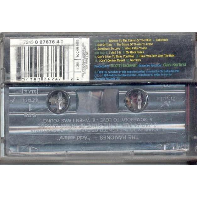 ramones Acid Eaters (Italian 1993 12-trk Cassette album ps & inserts)
