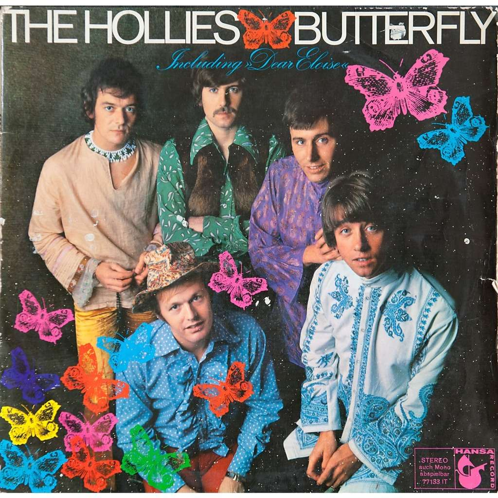 Butterfly By The Hollies Lp With Rabbitrecords Ref