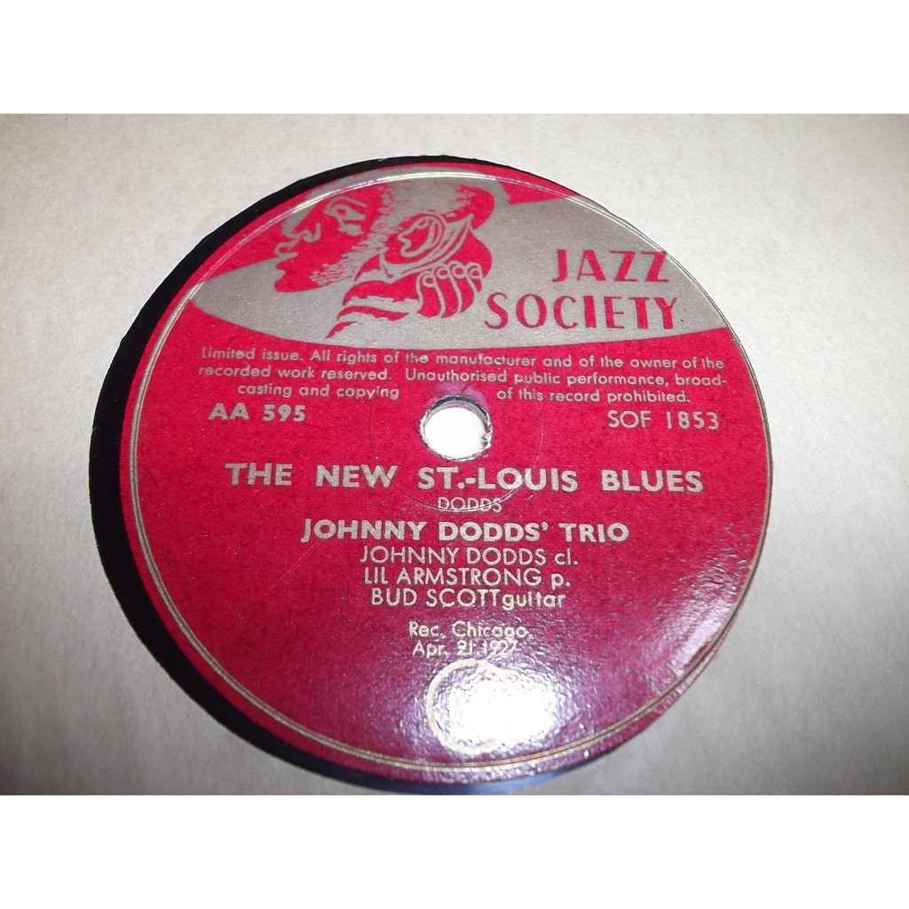 Dodds, Johnny trio the new st louis blues + oh lizzie
