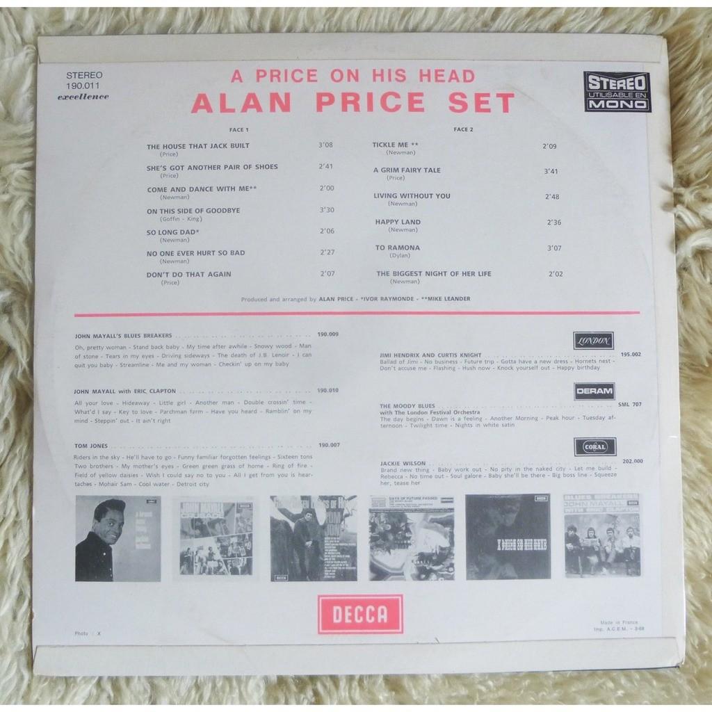 ALAN PRICE SET A PRICE ON HIS HEAD