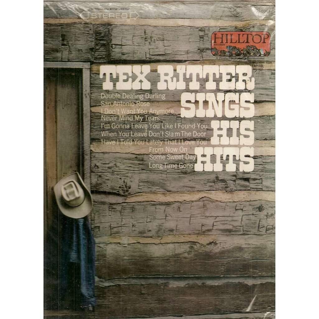 Tex Ritter Sings His Hits