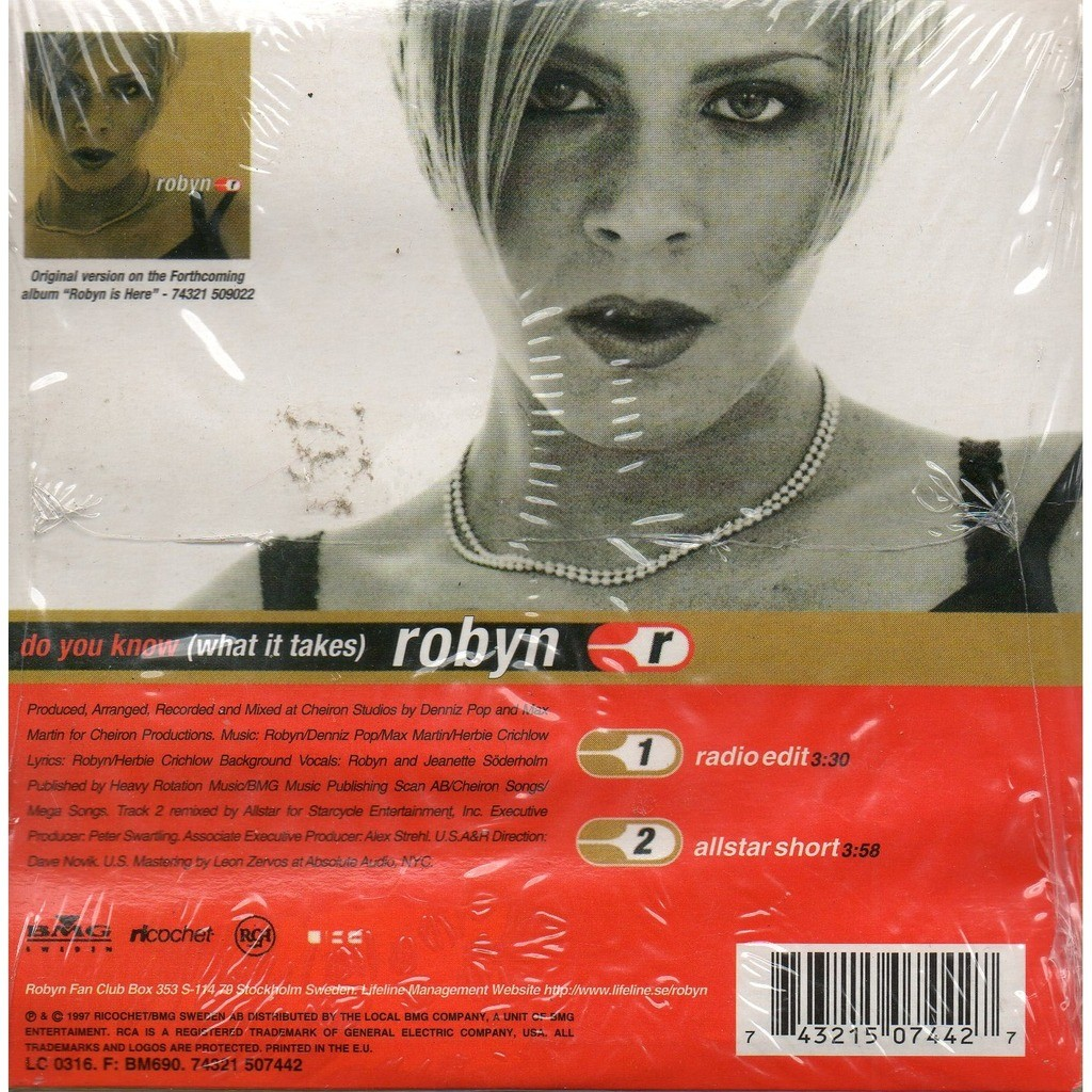 Do you know (what it takes) by Robyn, CDS with yvandimarco