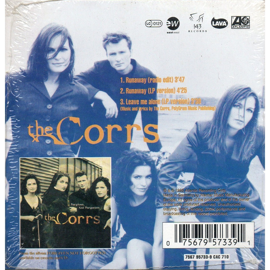 Runaway /runaway (lp version) /leave me alone (lp version) by The Corrs,  CDS with yvandimarco