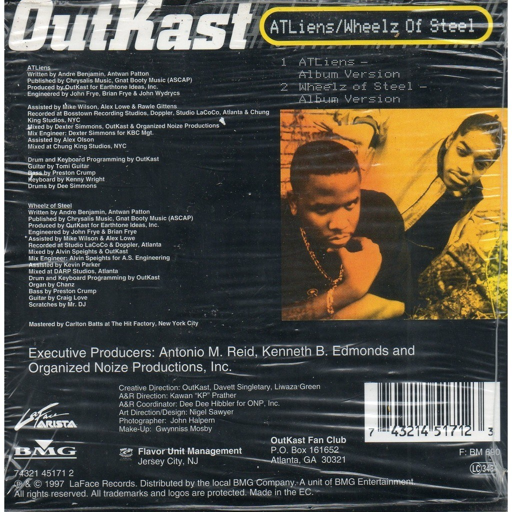 Atliens / wheelz of steel by Outkast, CDS with yvandimarco ...