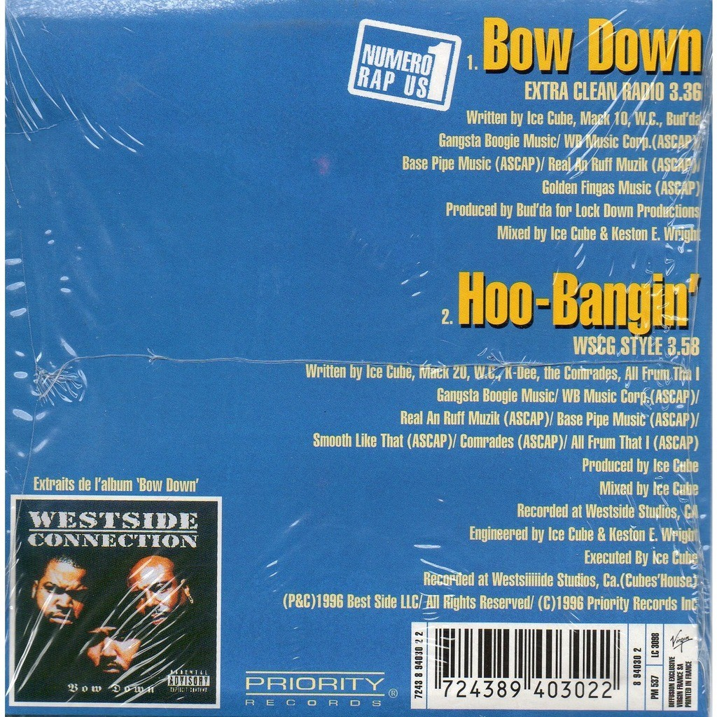 Bow down / hoo bangin\' by Westside Connection, CDS with yvandimarco ...