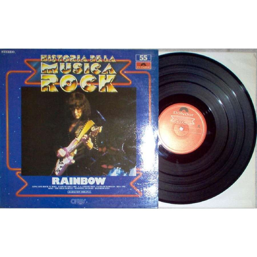 Deep Purple / Rainbow Historia de La Musica Rock (Spanish 1982 8-trk LP absolutely unique ps)