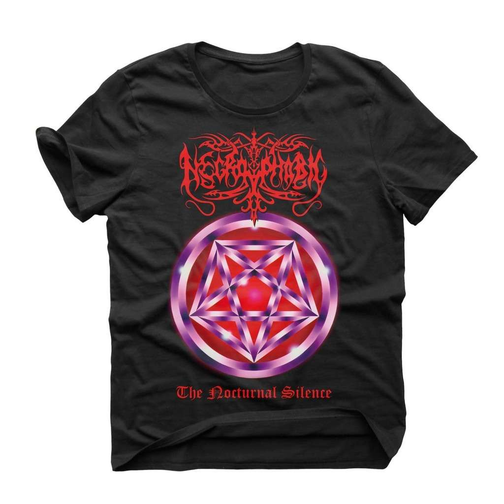 NEW /& OFFICIAL! T-Shirt Black Necrophobic /'The Nocturnal Silence/'