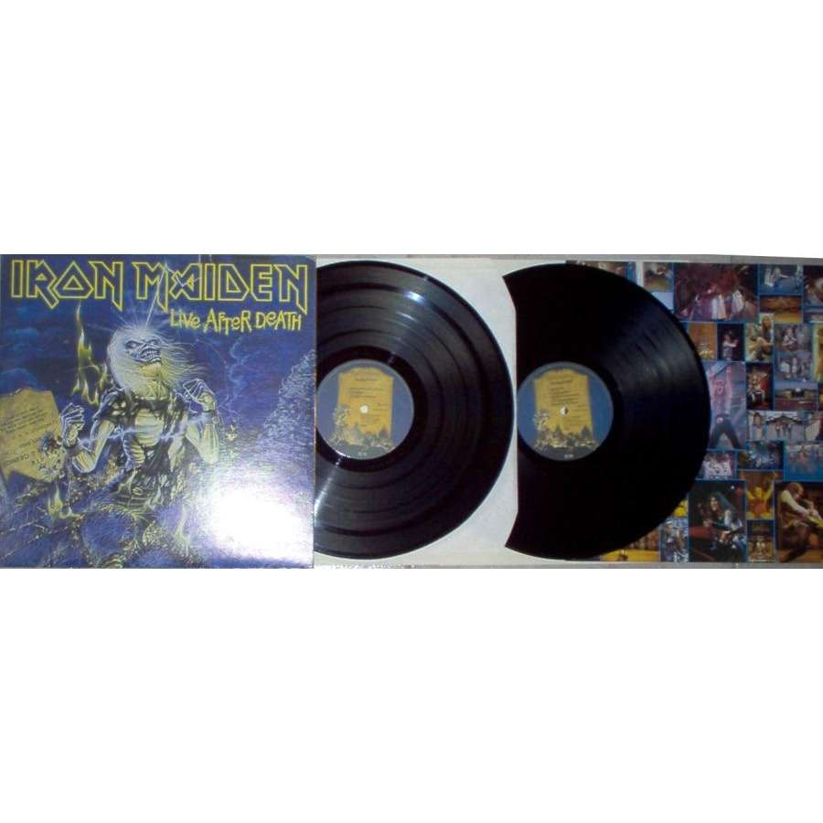 iron maiden Live After Death (Italian 1985 18-trk 2LP set full gf ps & boolet)