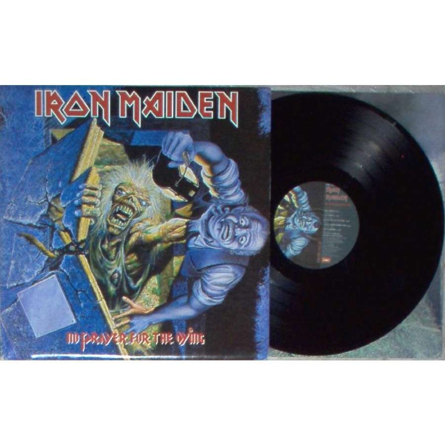 iron maiden No Prayer For The Dying (Yougoslavia 1990 10-trk LP on Jugoton lbl ps & inner slv)