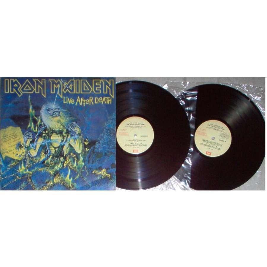 iron maiden Live After Death (Peruvian 1985 18-trk 2LP set alternate colour gf ps)