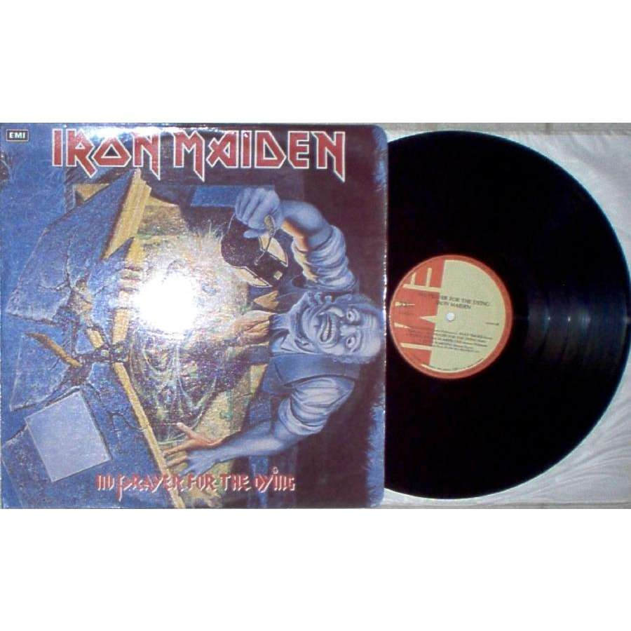 iron maiden No Prayer For The Dying (Colombia 1990 10-trk LP on EMI tan lbl laminated ps)