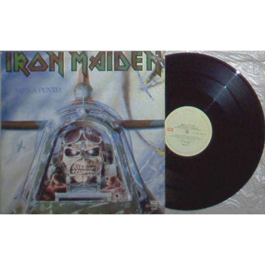 iron maiden Bien A Punto (Argentina 1986 5-trk 12EP unique spanish titles ps)