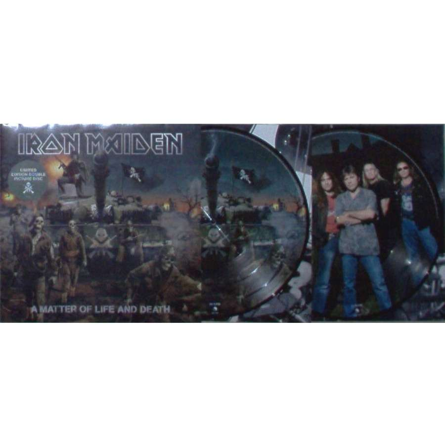 iron maiden A Matter Of Life And Death (UK 2006 original Ltd 10-trk 2LP Picture Disc stickered gf ps+inner slvs)