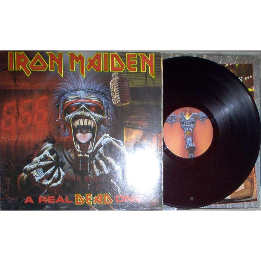 iron maiden A Real Dead One (Brazil 1993 Ltd 12-trk LP full gf ps & inner slv)