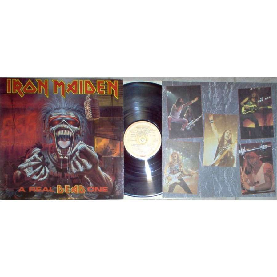 iron maiden A Real Dead One (Greek 1993 Ltd 12-trk LP full gf ps & insert)