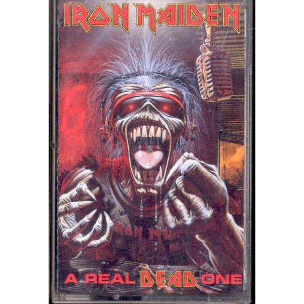 iron maiden A Real Dead One (Italian 1993 12-trk cassette album ps & poster)