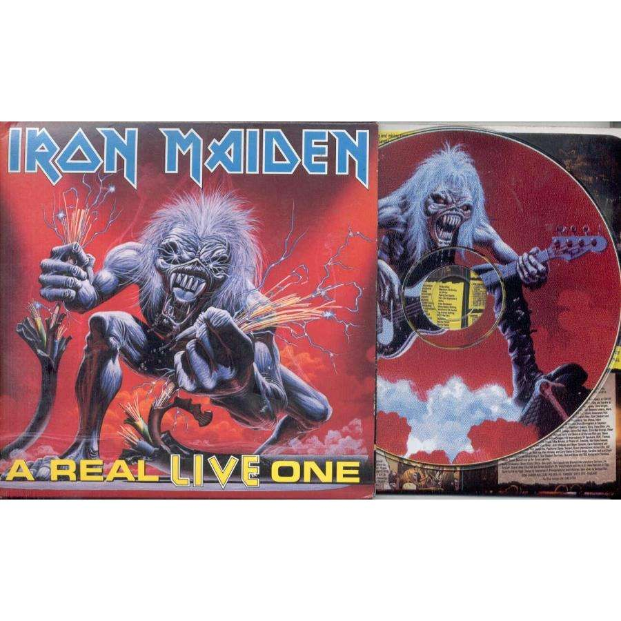 iron maiden A Real Live One (USA Ltd 1998 11-trk CD PDK on Sanctuary lbl card gf ps & booklet)