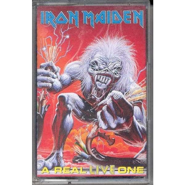 iron maiden A Real Live One (Italian 1993 11-trk Cassette album full ps)