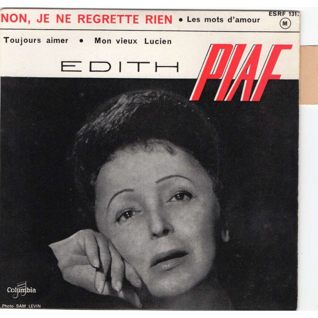 Non Je Ne Regrette Rien By Edith Piaf Ep With Ninondisque Ref 117682378
