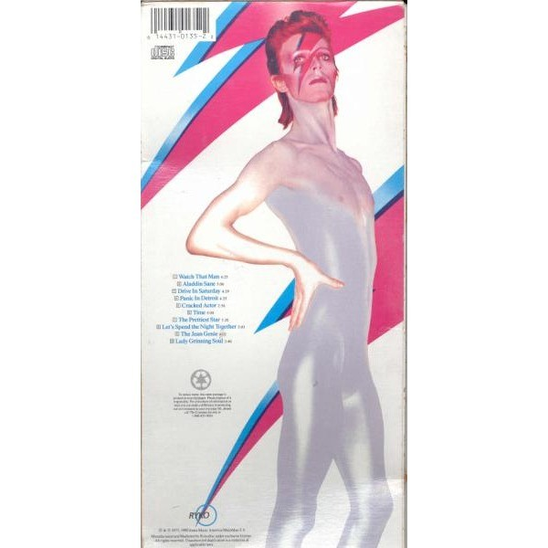 David Bowie Aladdin Sane (USA 1990 Ltd long box CD unique card box ps)