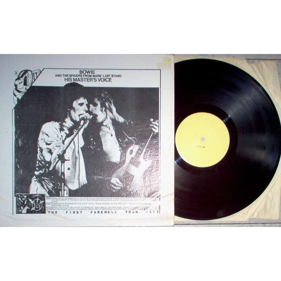 David Bowie His Master's Voice - The First Farewell Tour 1973 (TAKRL lbl live LP deluxe ps)