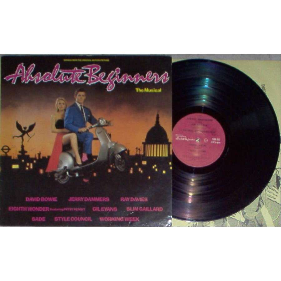 Jam / Style Council / Sade Absolute Beginners (Italian 1986 10-trk V/A OST LP ps & inner slv)