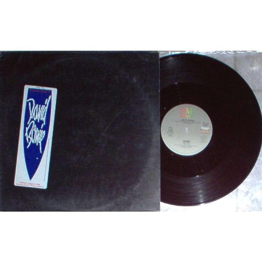 David Bowie Tonight (USA 1984 2-trk 12EP promo unique sticker ps)