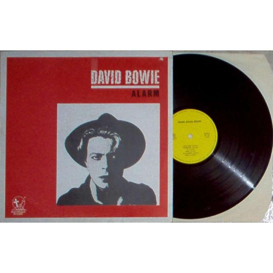 David Bowie Alarm (Euro 80s Ltd 11-trk live LP on Gravedigger Records lbl deluxe ps)