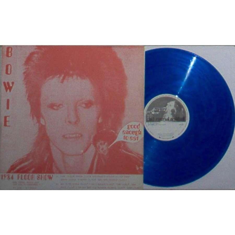 David Bowie 1984 Floor Show (US 70s Ltd live LP BLU wax on Ruthless Rhymes lbl insert ps)