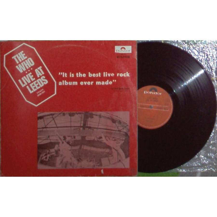 the who Live At Leeds (Israel 1970 original 6-trk LP absolutely unique ps)