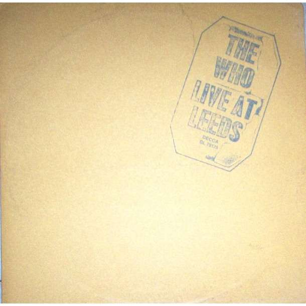 the who Live At Leeds (USA 1970 original 6-trk LP full gf ps & 9 inserts)