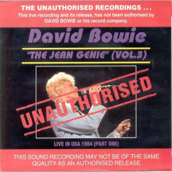 David Bowie The Jean Genie Vol.3 (Live in USA 1984 Part One)