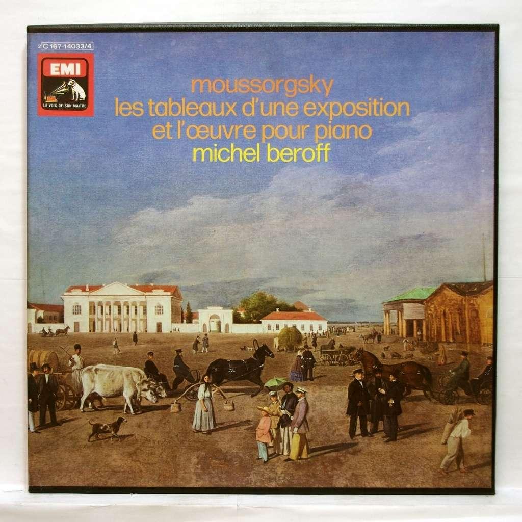 Moussorgsky : les tableaux d'une exposition / piano works de Michel Beroff, Coffret 33T chez ...