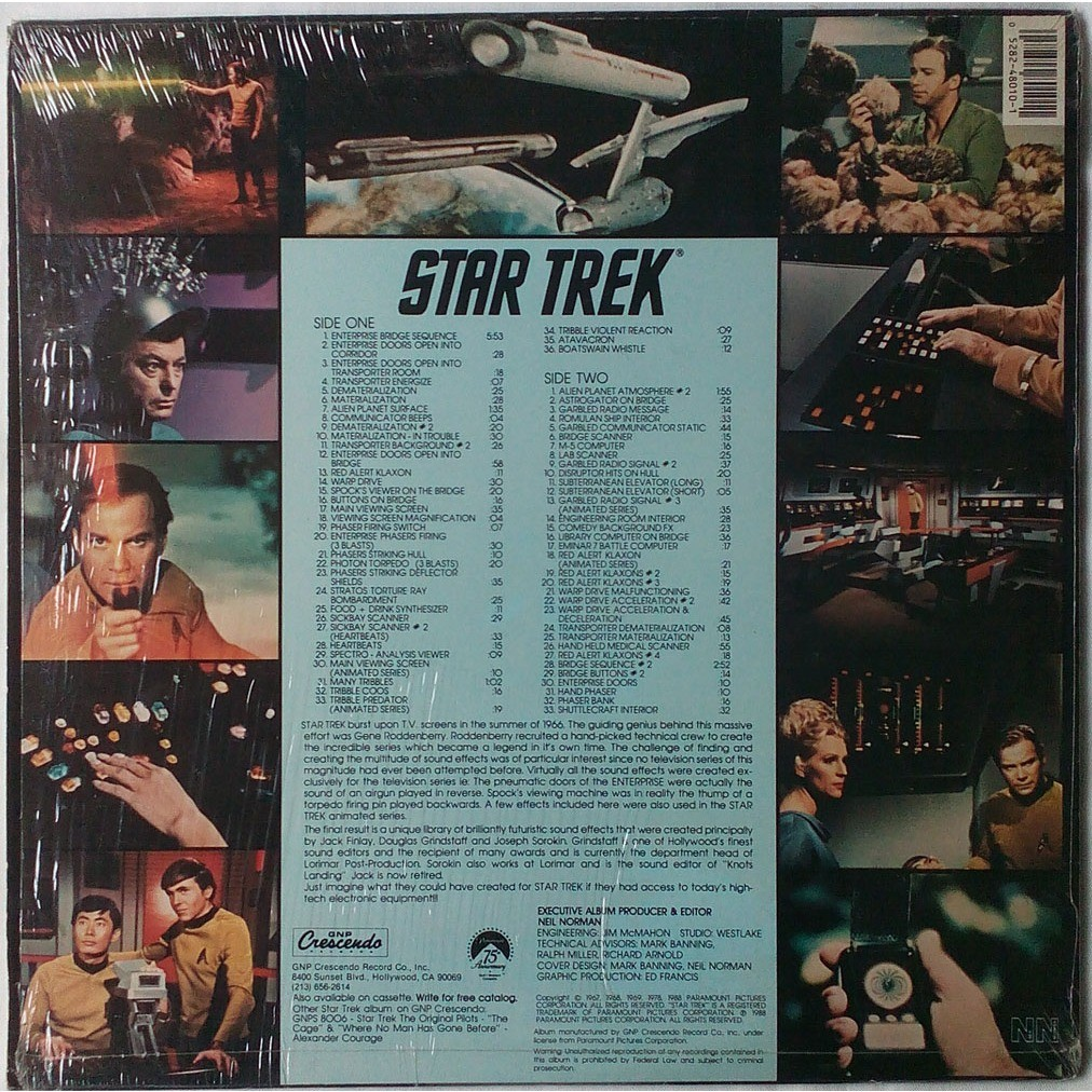 Star trek / sound effects from the original tv sou by Various, LP with  galantonov