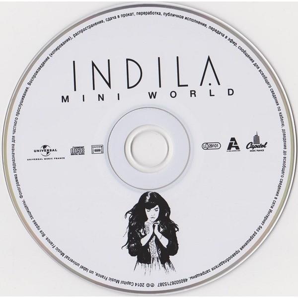 mini world by indila  cd with techtone11