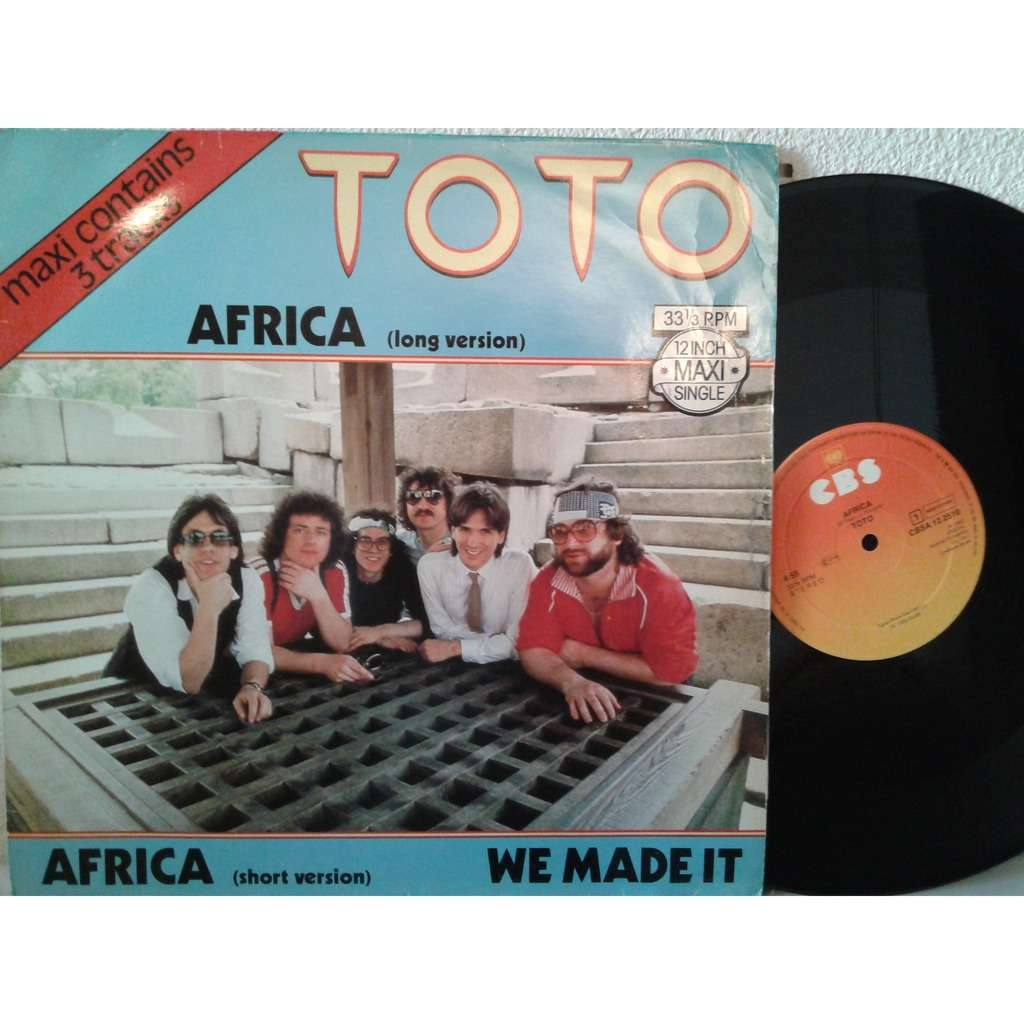 Africa 3 Tracks By Toto 12inch With Fiphi Ref 115011097