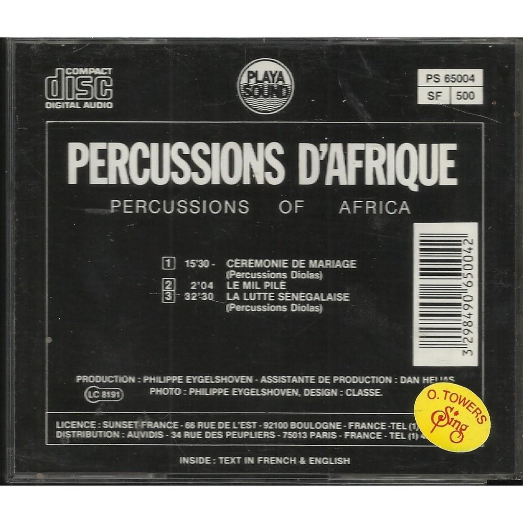percussions d' afrique percussions d' afrique