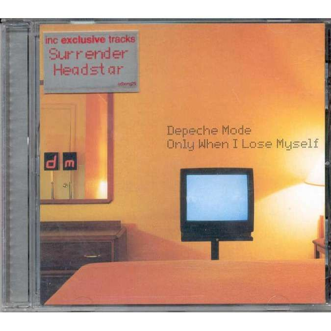 Depeche Mode Only When I Lose Myself (UK 1998 Ltd 3-trk CD stickered ps)