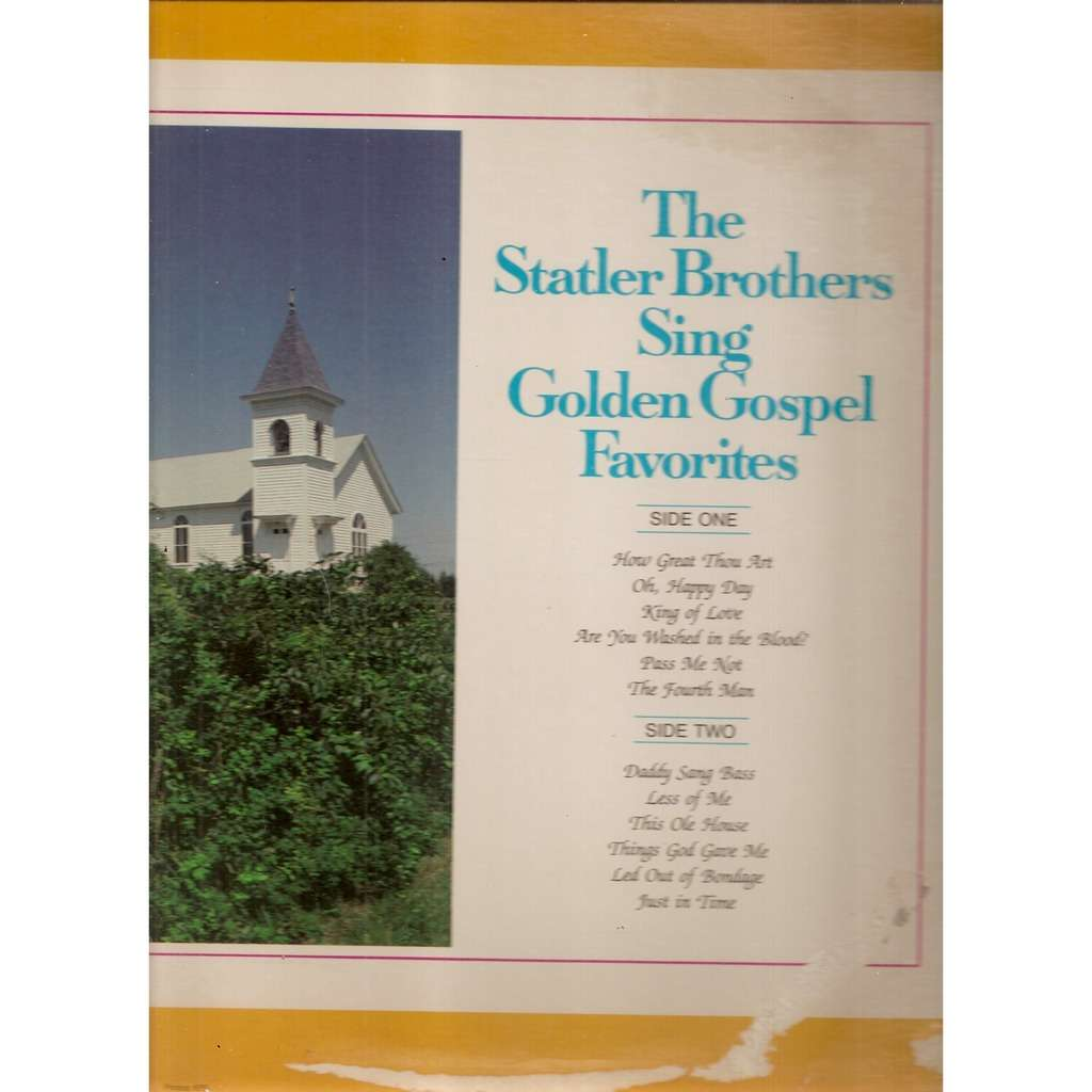 Sing golden gospel favorites by The Statler Brothers, LP with ...
