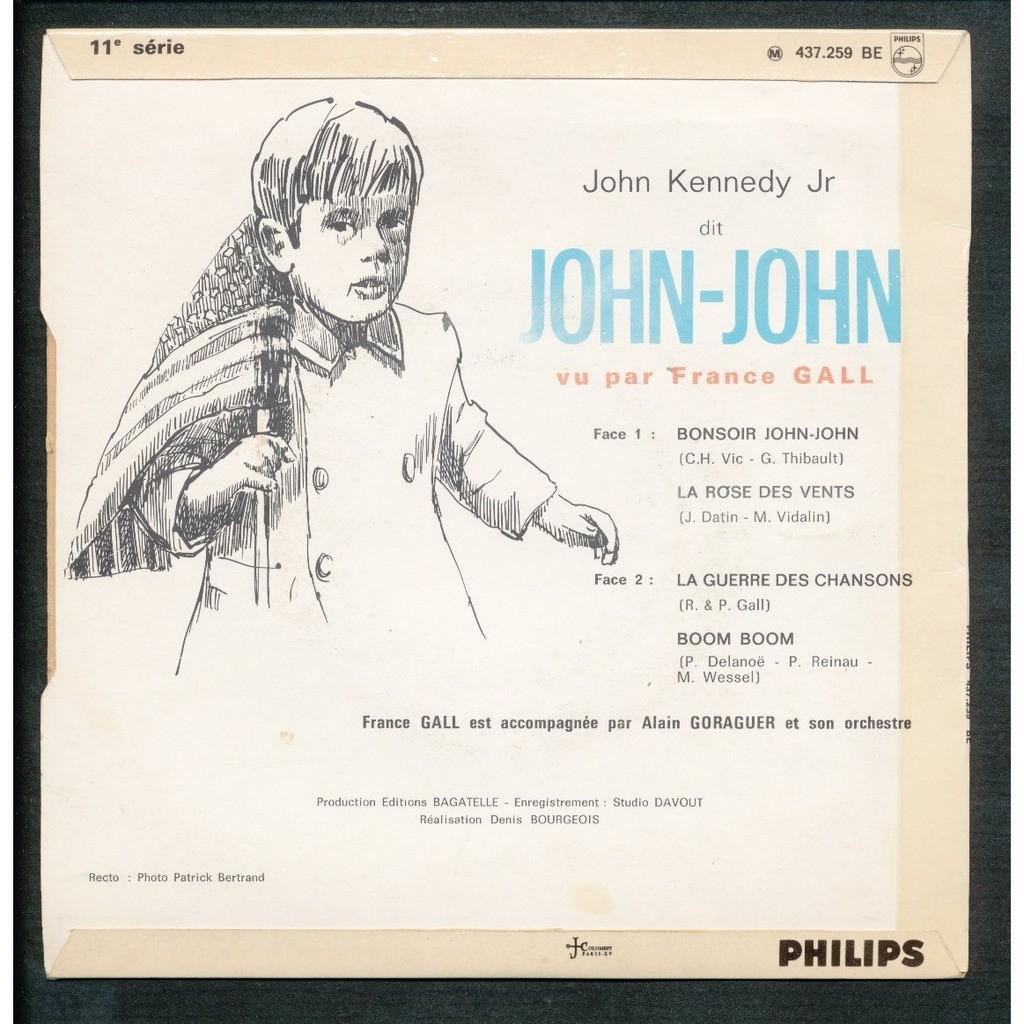 FRANCE GALL bonsoir john-john - la rose des vents - la guerre des cahnsons - boum boum