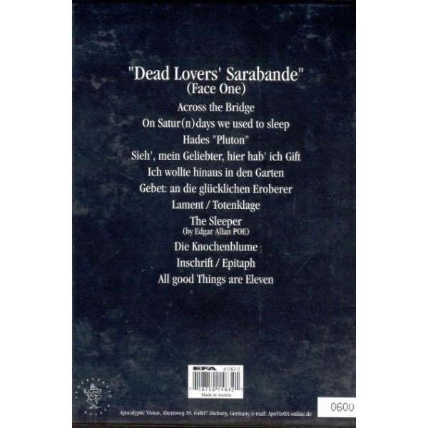 Sapor Aeternus & The Ensemble Of Shadows Dead Lovers' Sarabande (Face One) (Austria 1999 Ltd 11-trk CD album long box set & booklet)