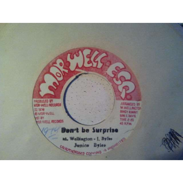 JUNIOR BYLES / ROOTS RADICS BAND DON'T BE SURPRISE / SPECIAL SURPRISE ORIG.