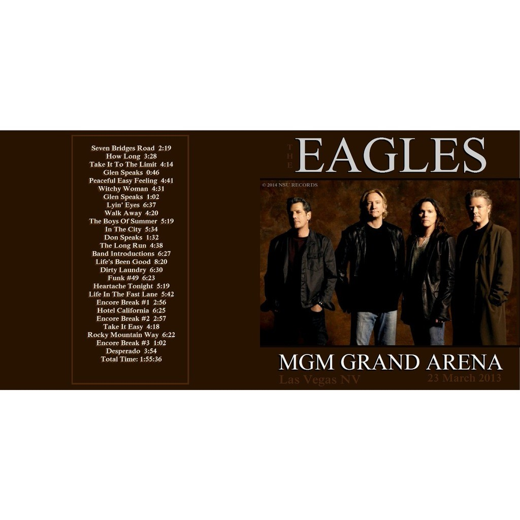Live mgm grand garden arena 2013 3.23 2cd by The Eagles, CD x 2 with ...