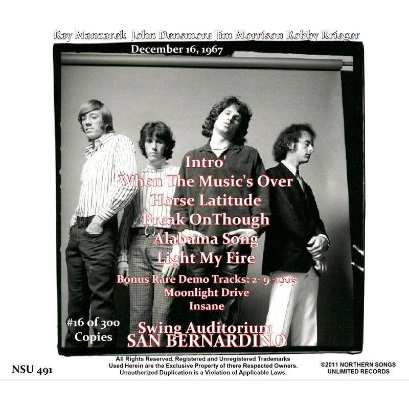 ... jim morrison \u0026 the doors LIVE IN SAN BERNARDINO DECEMBER.16.1967 LTD CD ...