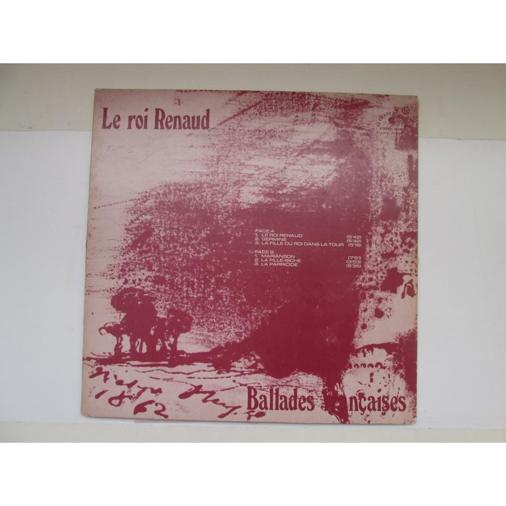 le roi renaud Ballades françaises