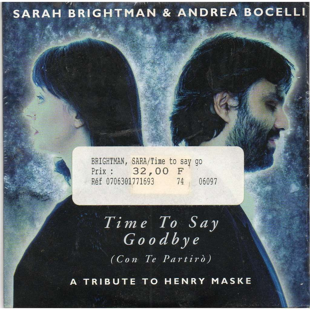 Sarah brightman time to say goodbye lyrics youtube
