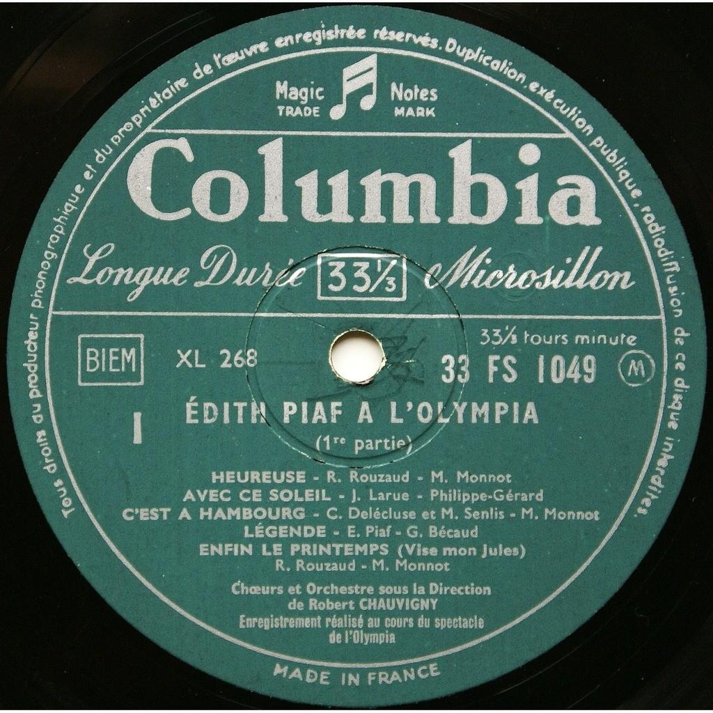 Edith Piaf Le Tour De Chant D'Edith Piaf