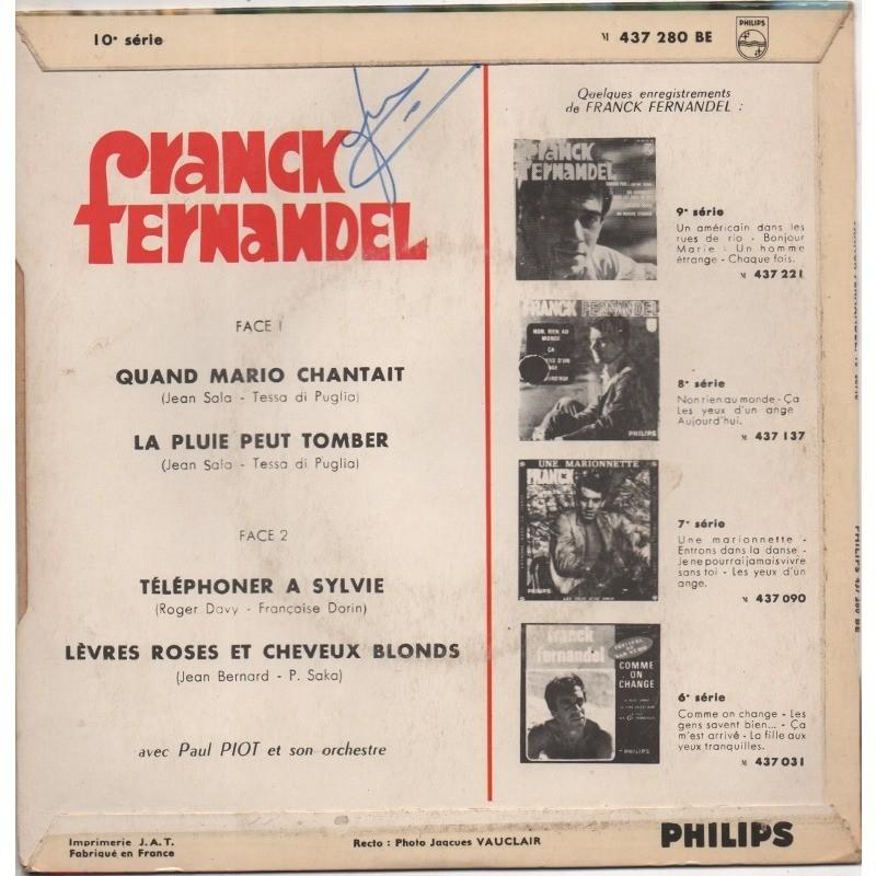 FERNANDEL FRANCK QUAND MARIO CHANTAIT