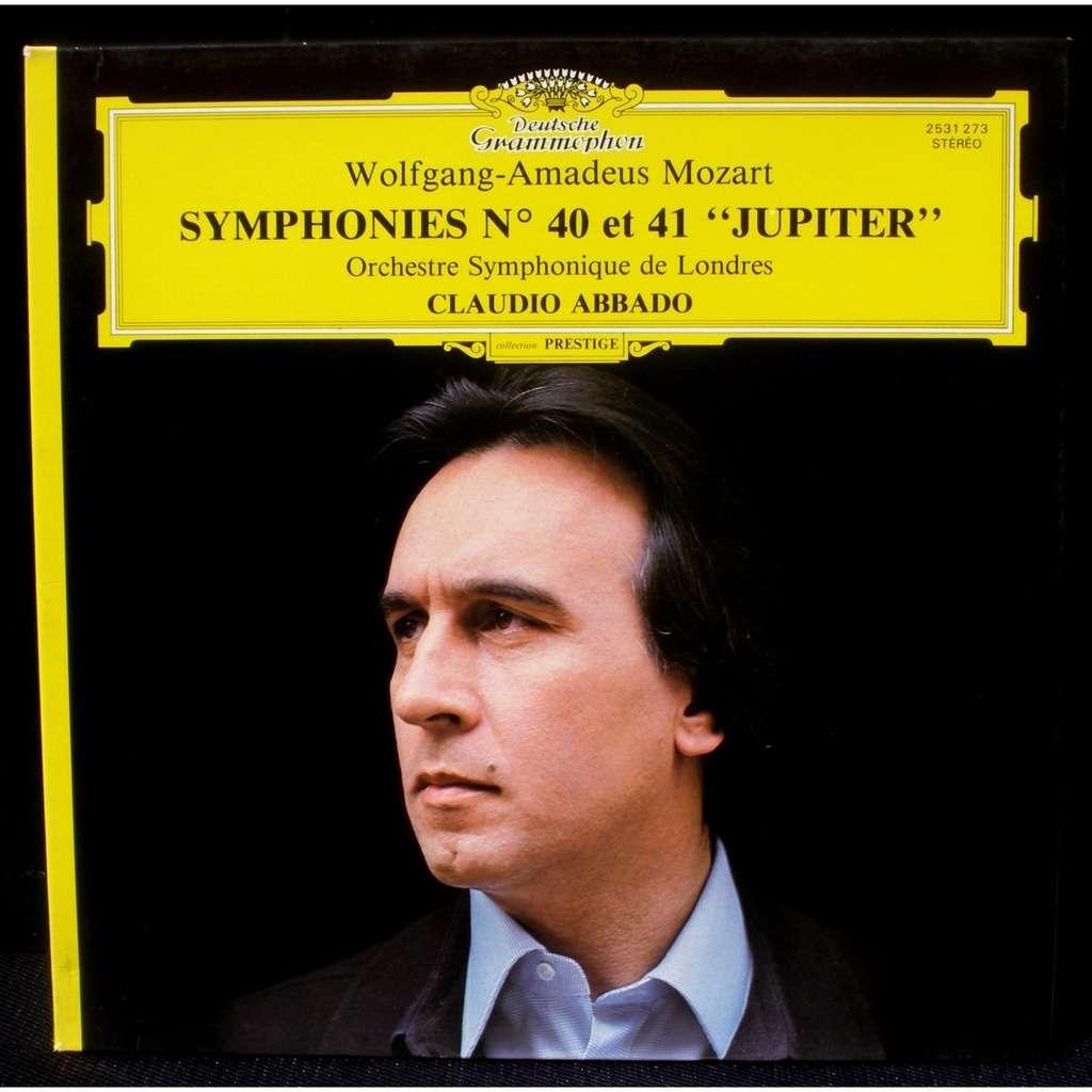 mozart symphonies 40  u0026 41 claudio abbado lp  u0026 cv nm