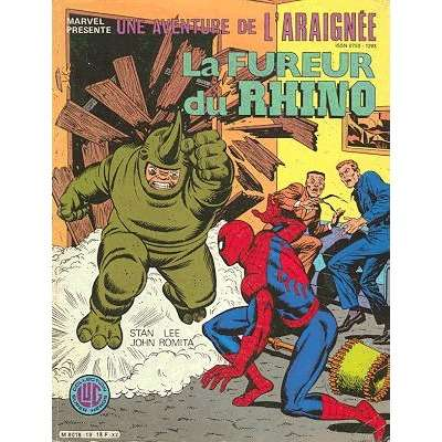 une aventure de l'araignée la fureur du rhino